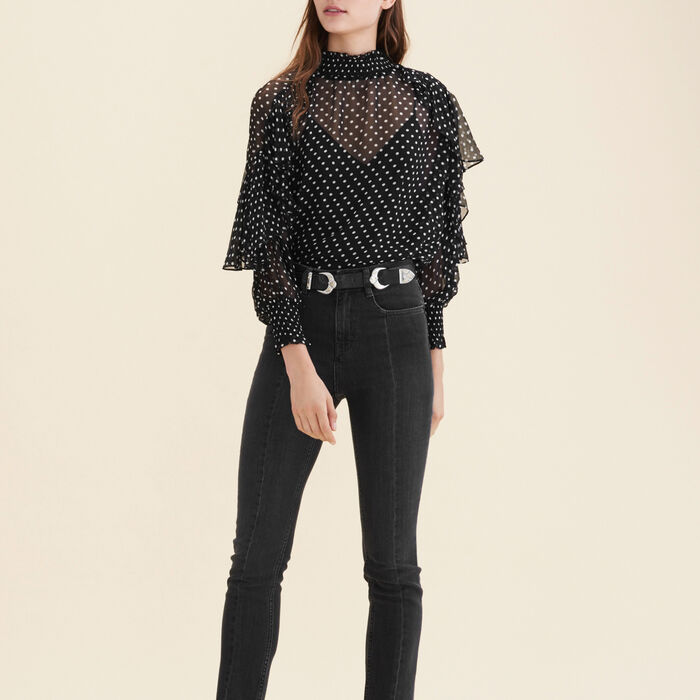 Floaty polka-dot top : null color