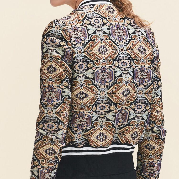 Jacquard jacket : Coats & Jackets color Jacquard
