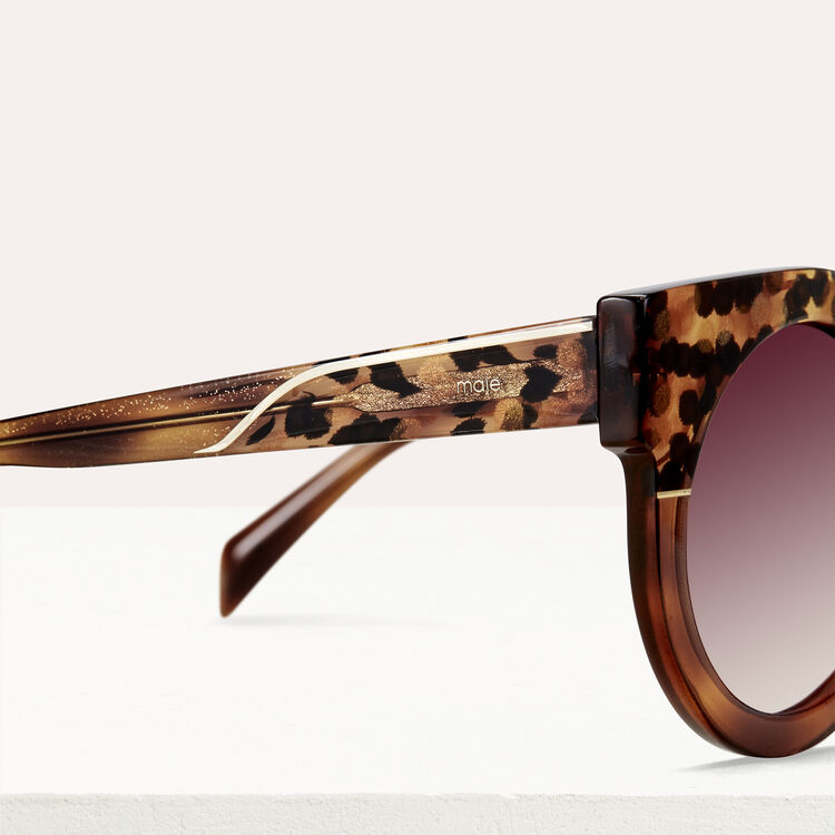 Cat eye sunglasses : Sunglasses color Ecaille