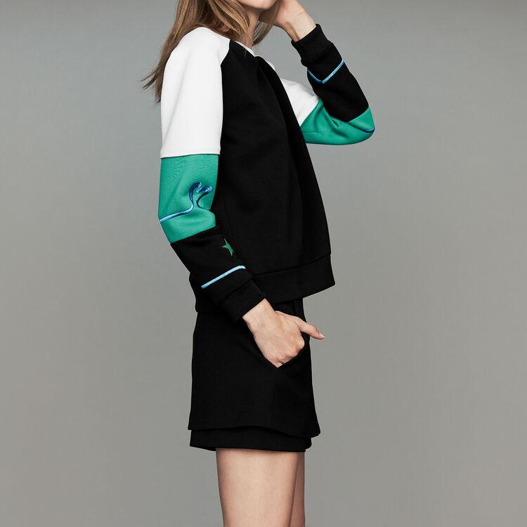 Multicolor Neoprene sweatshirt : Sweaters color Multico