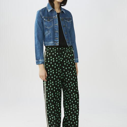 Draped printed pants : Pants & Jeans color PRINTED