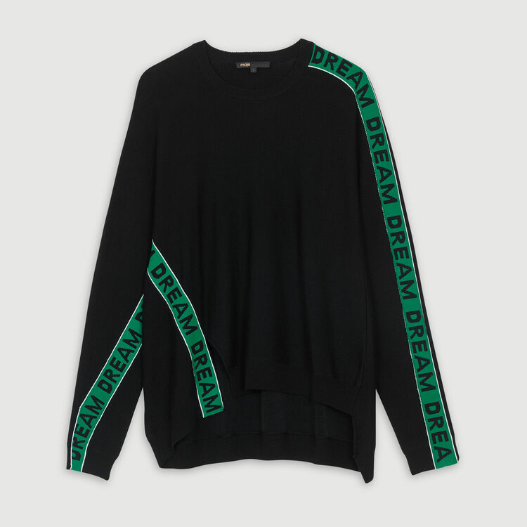 Oversize graphic sweater : Sweaters color Black 210