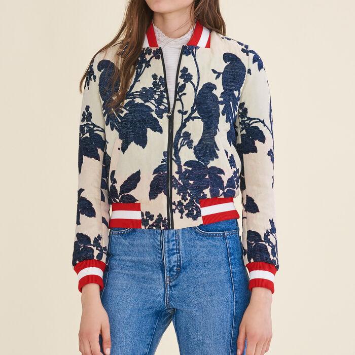 Jacquard varsity jacket : Coats & Jackets color Jacquard