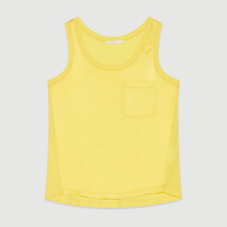 Loos silk tank top : Tops & T-Shirts color Yellow