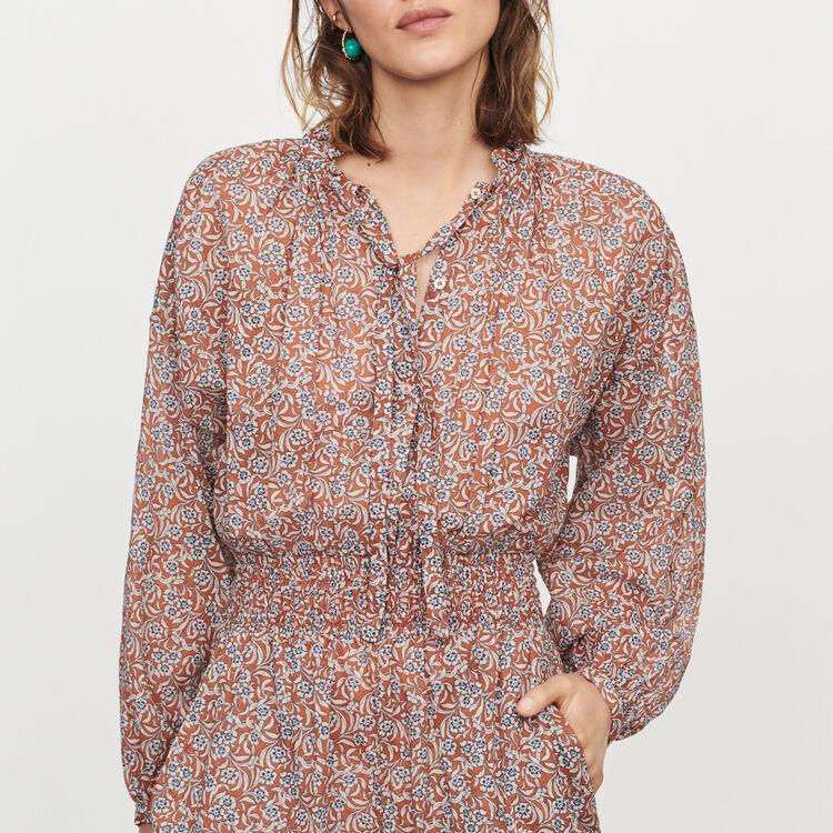 Floral-print playsuit : Jumpsuits & Rompers color Terracota