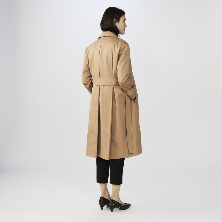 Cotton canvas trench : Coats & Jackets color SAND BEIGE