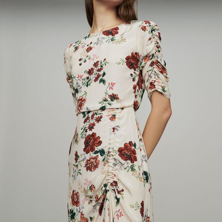 965c6df7b222 RONDI Long dress with floral print - Dresses - Maje.com
