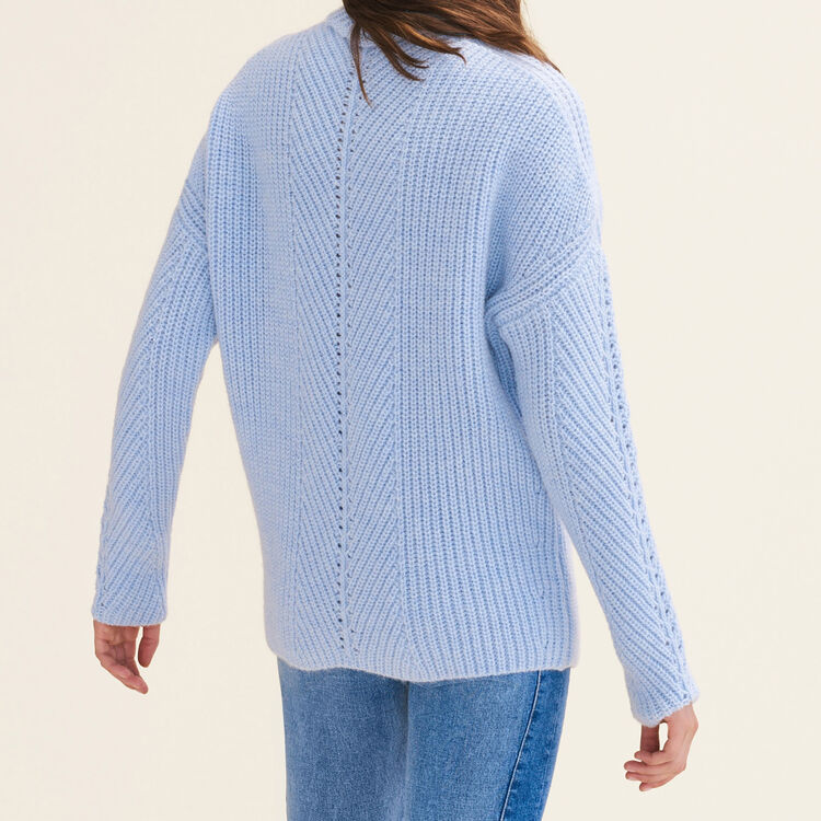 Oversized roll-neck jumper : null color