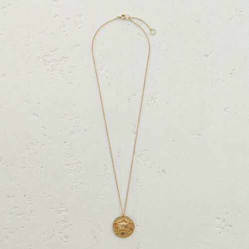 Cancer zodiac sign necklace : New Collection color GOLD