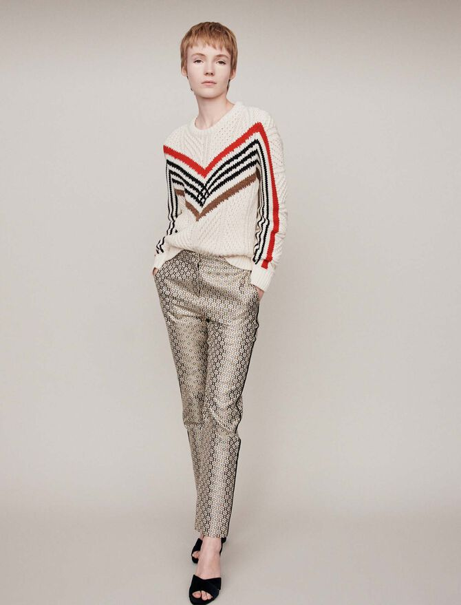 Twisted sweater with graphic motifs - Sweaters - MAJE