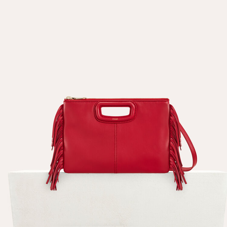 M Duo clutch in leather : Bags color Red