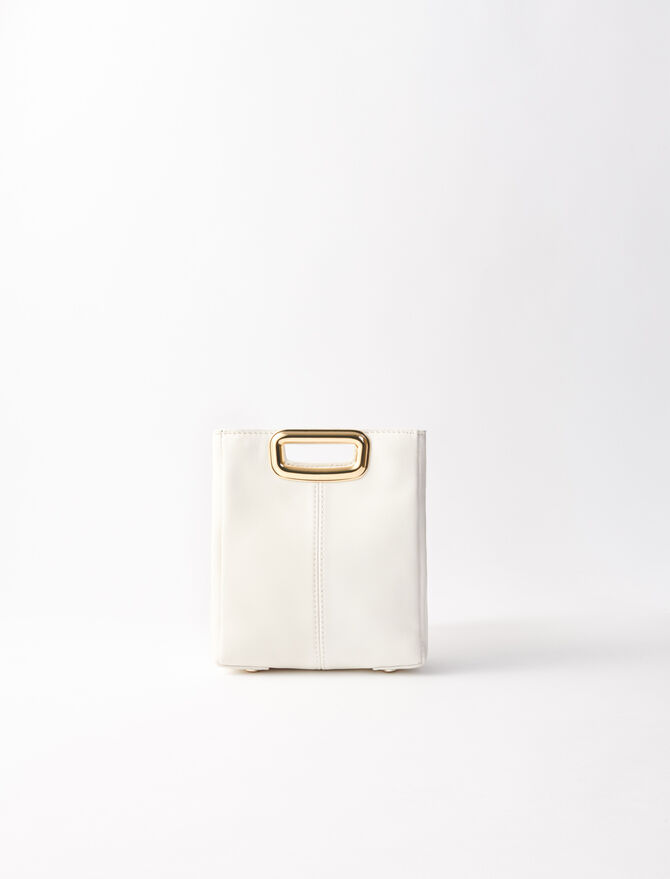 M Mini Skin bag in leather -  - MAJE