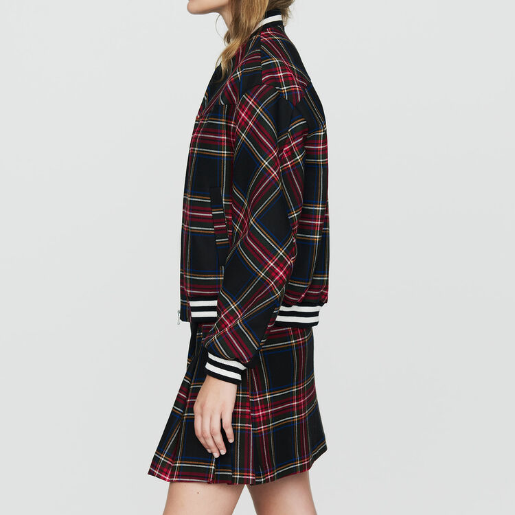 Plaid teddy : Coats & Jackets color CARREAUX