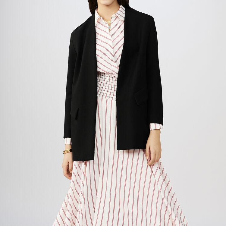 Valleane Collarless Cotton Blend Dress Jacket Coats Jackets