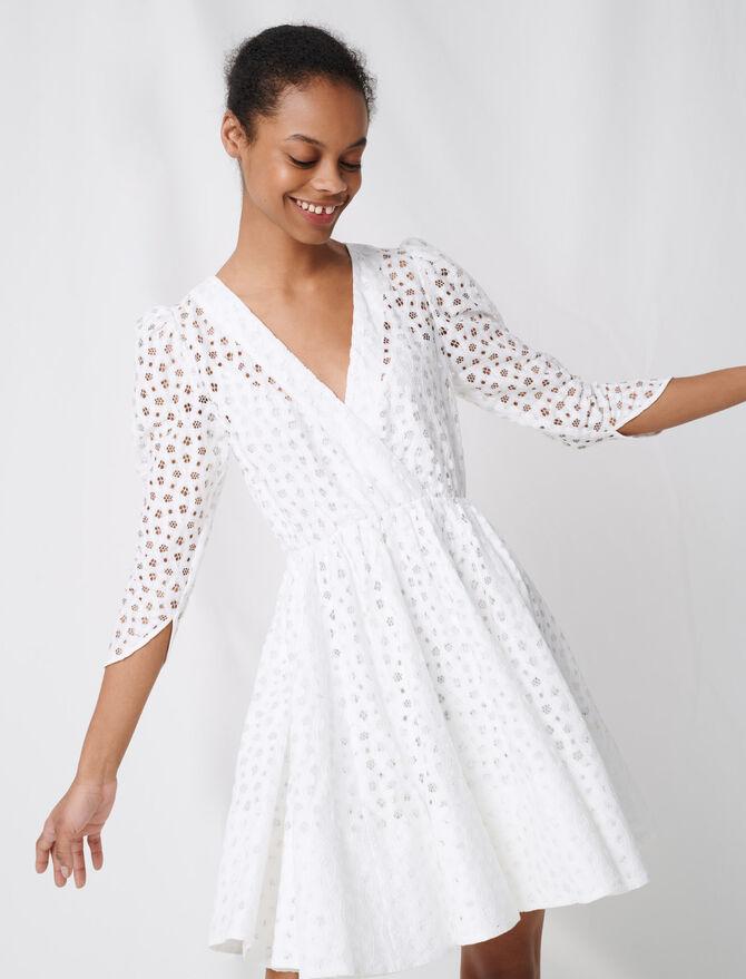 White lace dress - Dresses - MAJE