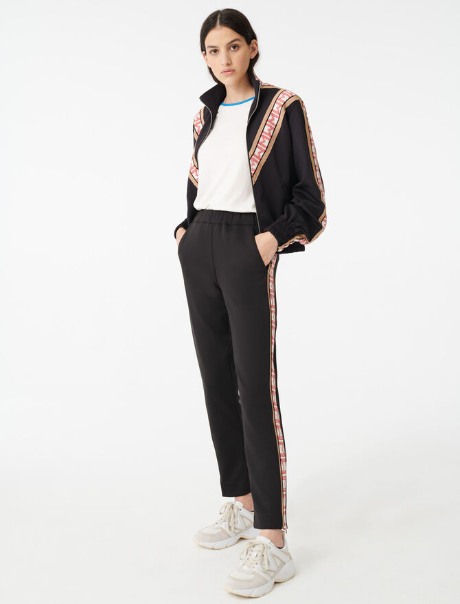 Tracksuit bottoms with bands - Pants & Jeans - MAJE