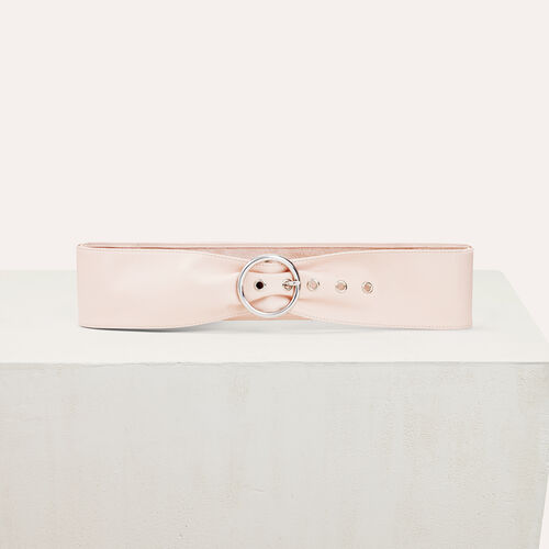 Wide leather belt : Belts color Pale Pink