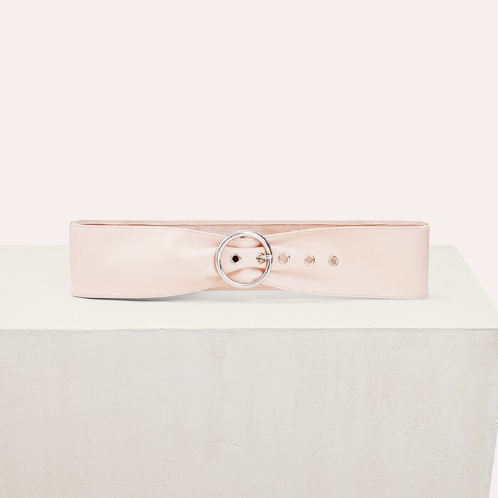 Wide leather belt : Shoes & Accessories color Pale Pink