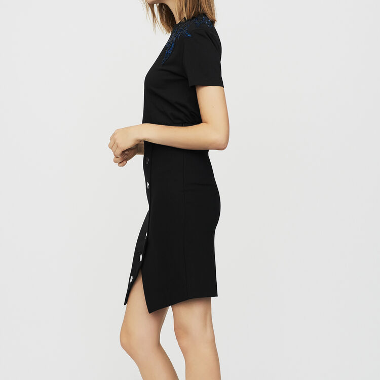 Pencil skirt with buttons : Skirts & Shorts color Black 210