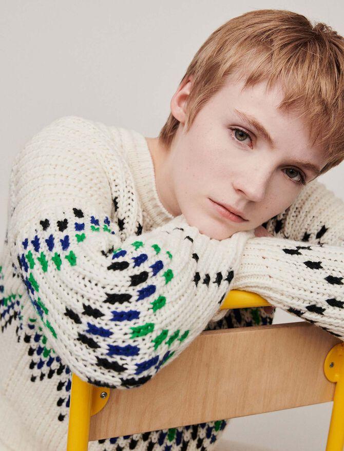 Sweater with fancy motifs - Sweaters - MAJE