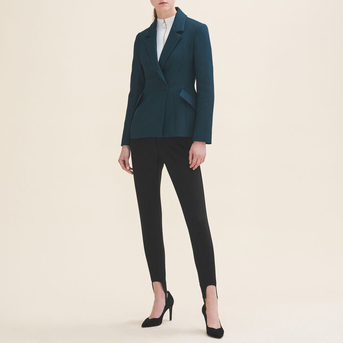 Structured jacket with peplum -  - MAJE