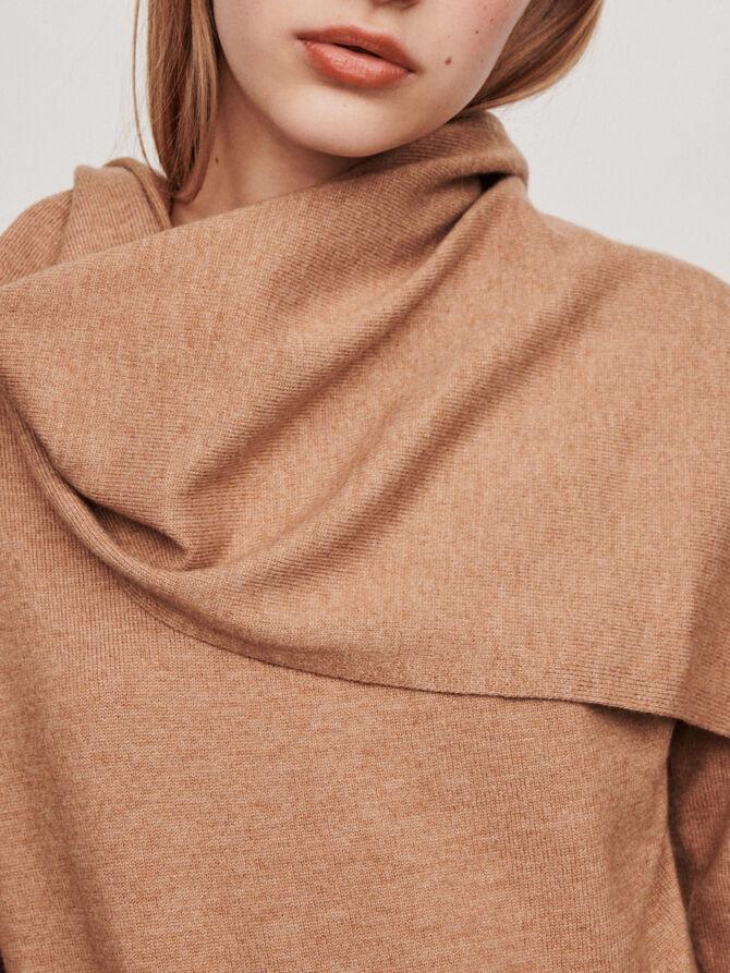 Knotted crewneck sweater - Sweaters - MAJE
