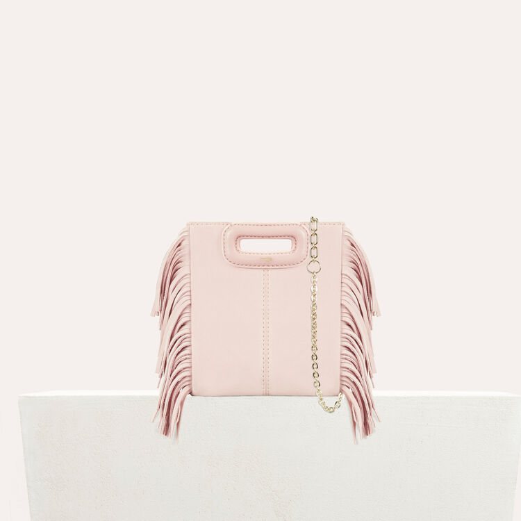M mini-bag with chain : Shoes & Accessories color Nude