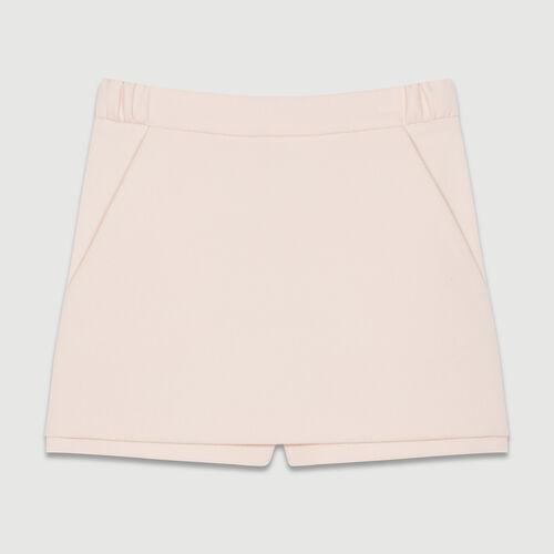 Crepe skort : Skirts & Shorts color Pink