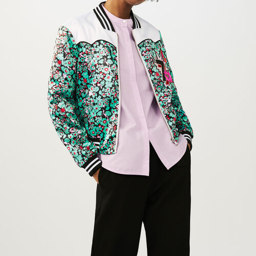 Multicolored bomber jacket : Coats & Jackets color PRINTED