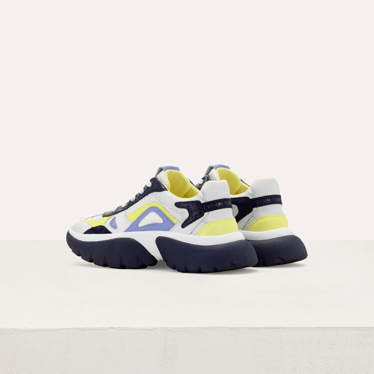 W20 Urban fabric mix sneakers : Shoes color Blue