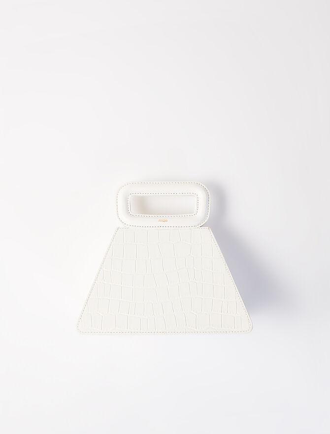 Crocodile-effect leather pyramid - Medium Bags - MAJE