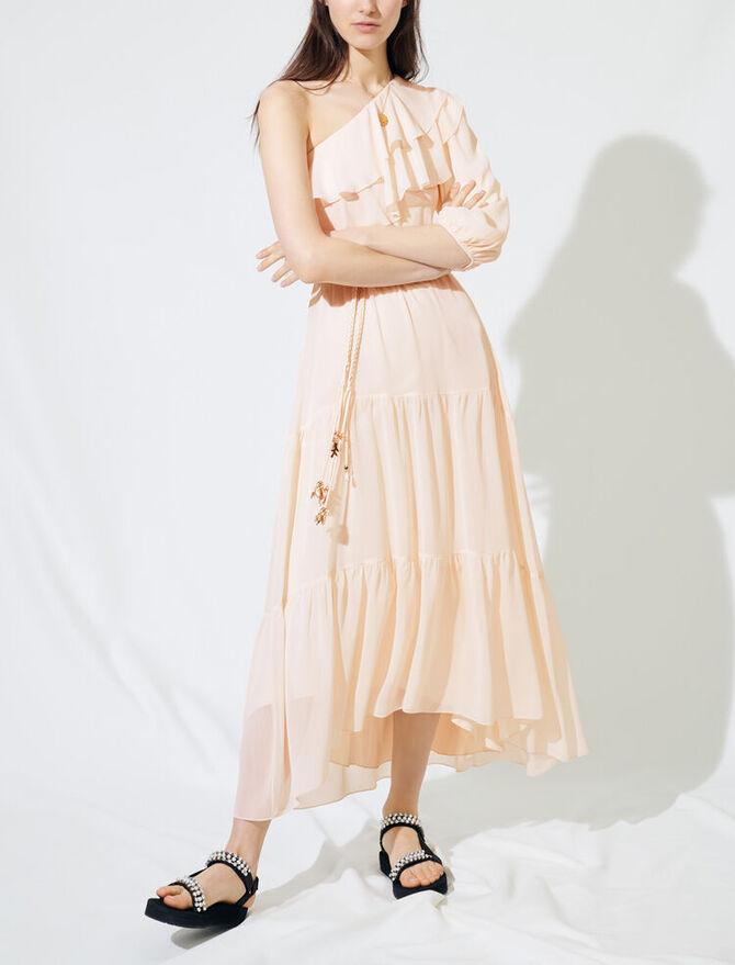 Asymmetrical muslin dress - Dresses - MAJE