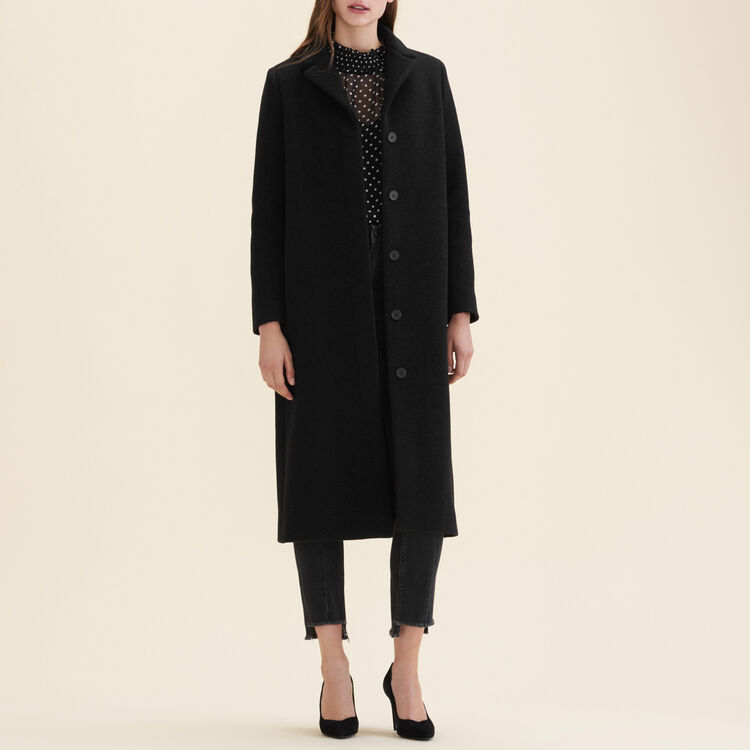 Long wool-blend coat : null color