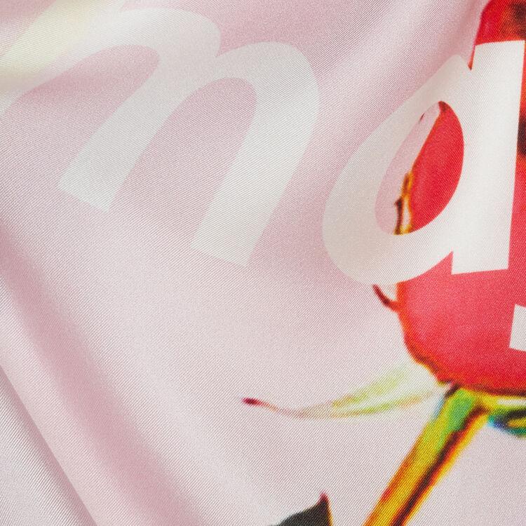 Silk square scarf : Scarves & Ponchos color Pink