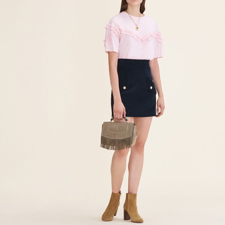 T-shirt with frill detail : Tops & Shirts color Pink