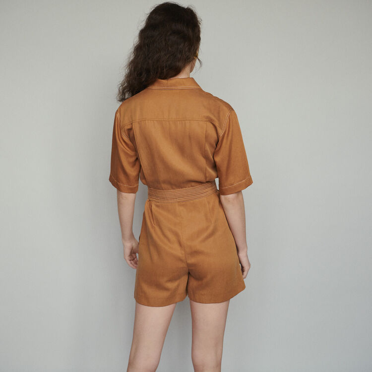 Shirt romper : Jumpsuits & Rompers color Terracota