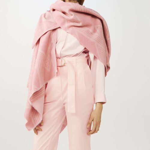 M print poncho : Scarves color Pink