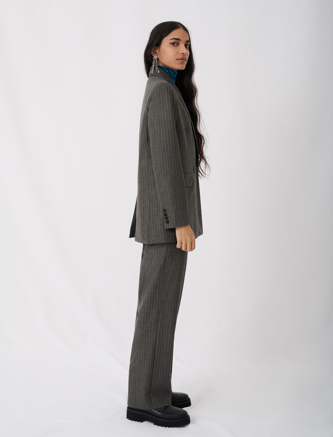 Suit jacket with tennis stripes - Coats & Jackets - MAJE