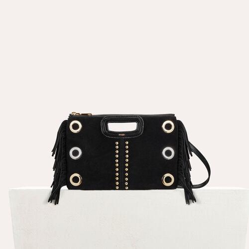 M Duo clutch in suede : Bags color Black 210