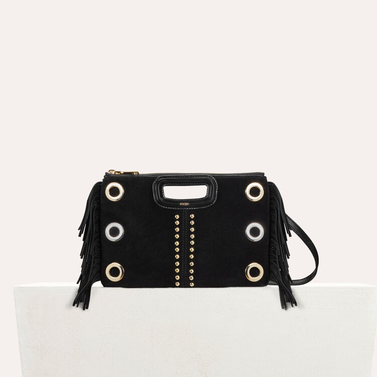 M Duo clutch in suede : Bags color Black 210