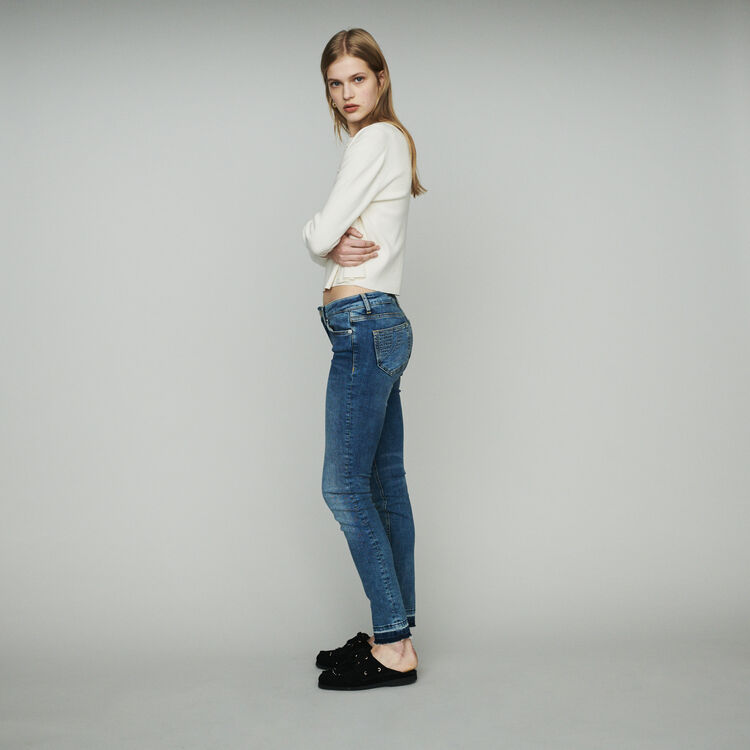 Slim jeans in stretch cotton : Pants & Jeans color Denim