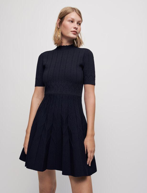 Maje Jacquard knit skater dress