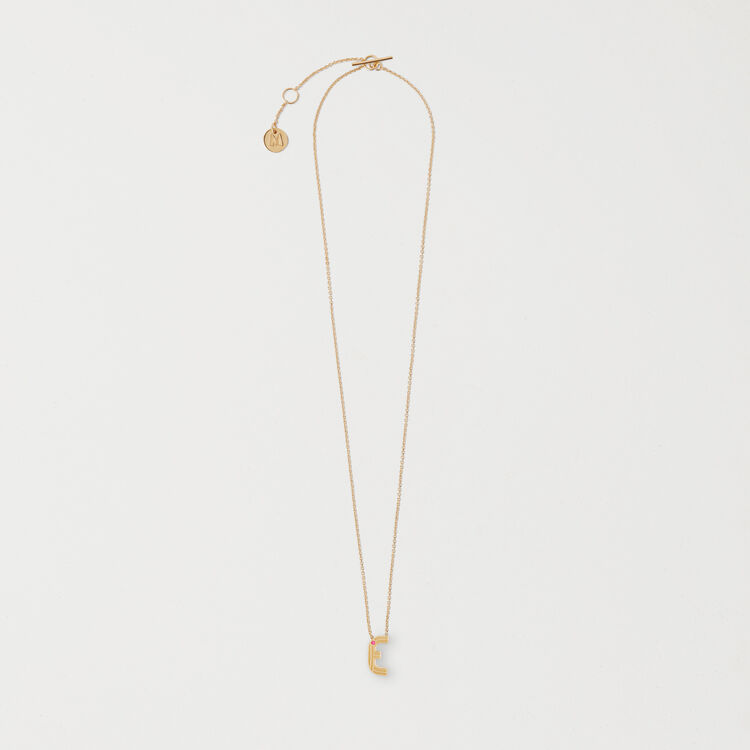 Necklace with initial pendant : The Essentials color GOLD