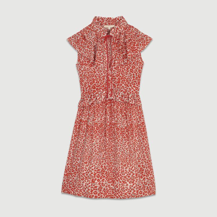 Sleeveless leopard print dress : Dresses color PRINTED