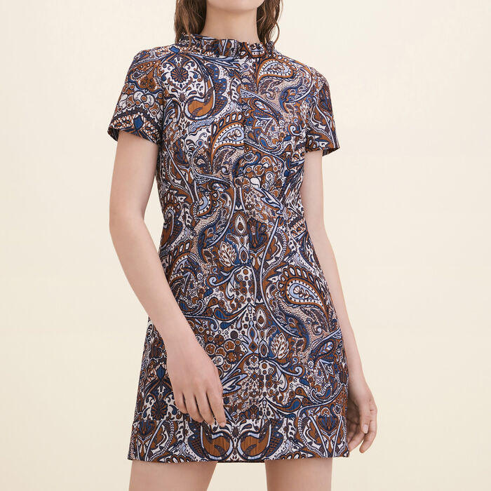 Jacquard straight-cut dress : Dresses color Jacquard