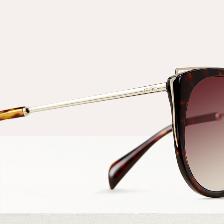 Metal and acetate sunglasses : Sunglasses color Ecaille
