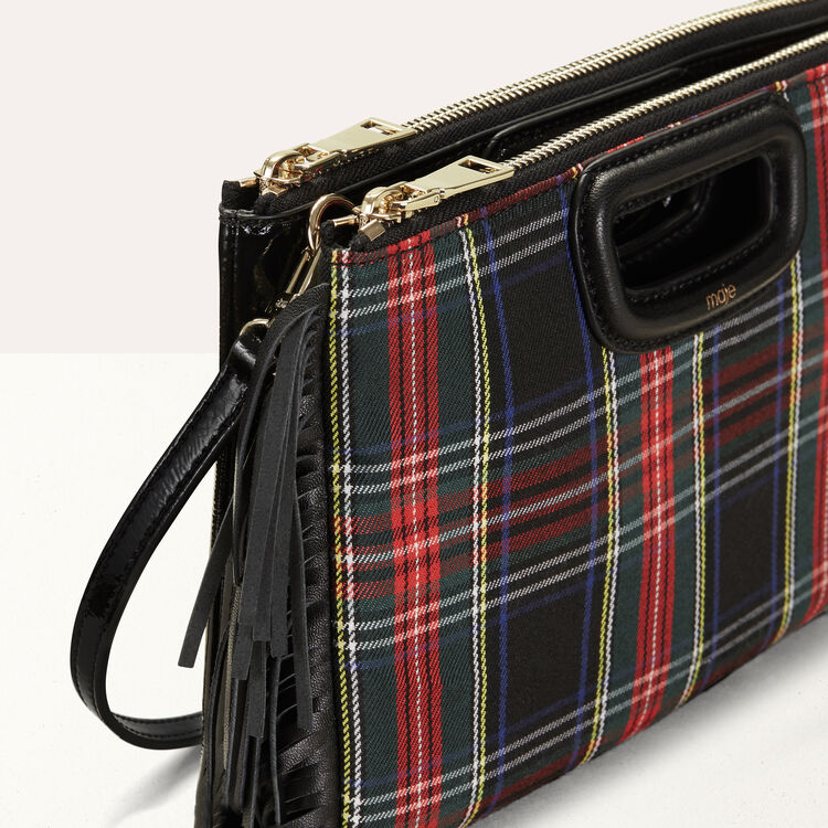 M Duo clutch in patent leather : M Duo color Black 210