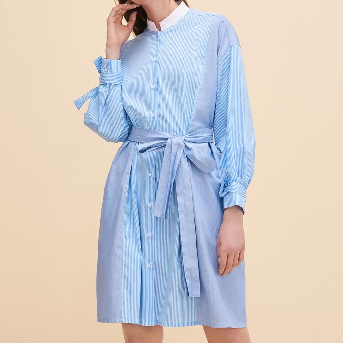 Striped shirt dress : Warehouse Sale color Blue