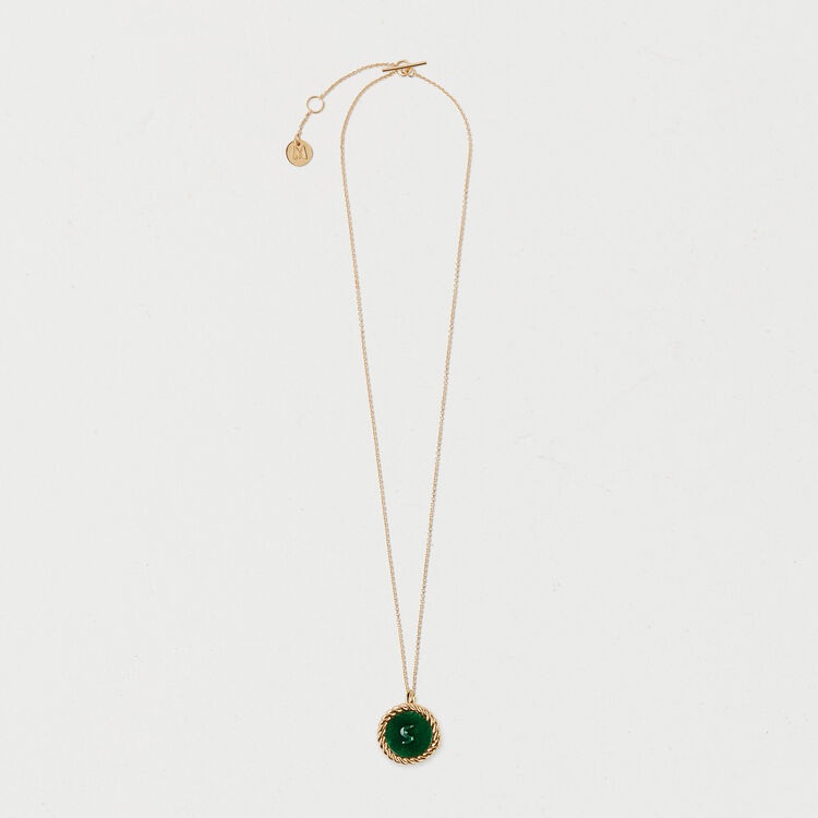 Number 5 medallion : Jewelry color GOLD