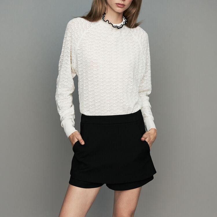 Crepe skort : Skirts & Shorts color Black 210